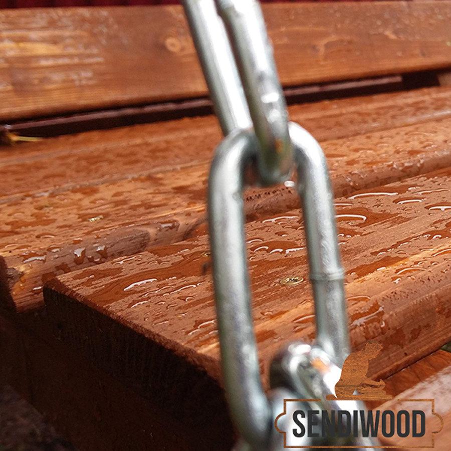 Фото дерева садовая Лавка для качелей Сенди покрытая масло воском